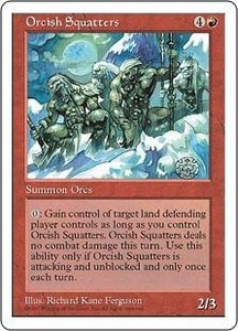 Magic the Gathering Fifth Edition Single Card Rare Orcish Squatters