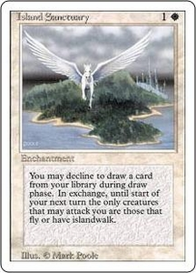 Magic the Gathering Revised Edition Single Card Rare Island Sanctuary