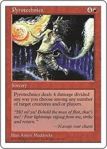 Magic the Gathering Fifth Edition Single Card Uncommon Pyrotechnics