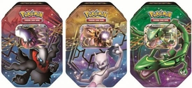 Pokemon Black & White Set of 3 Fall 2012 Legendary EX Tins [Rayquaza, Mewtwo & Darkrai]