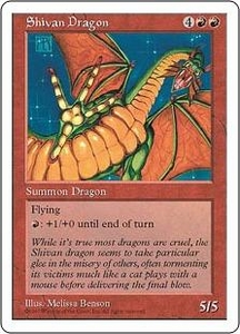 Magic the Gathering Fifth Edition Single Card Rare Shivan Dragon