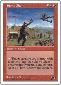 Magic the Gathering Fifth Edition Single Card Uncommon Stone Giant