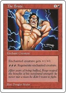 Magic the Gathering Fifth Edition Single Card Common The Brute