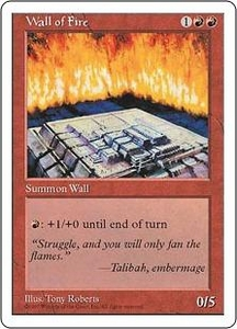 Magic the Gathering Fifth Edition Single Card Uncommon Wall of Fire