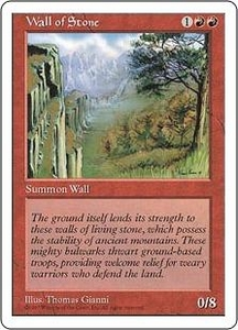 Magic the Gathering Fifth Edition Single Card Uncommon Wall of Stone