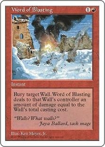 Magic the Gathering Fifth Edition Single Card Uncommon Word of Blasting