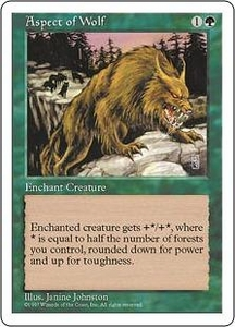 Magic the Gathering Fifth Edition Single Card Rare Aspect of Wolf