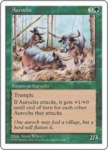 Magic the Gathering Fifth Edition Single Card Common Aurochs