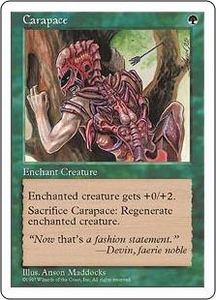 Magic the Gathering Fifth Edition Single Card Common Carapace
