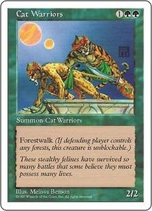 Magic the Gathering Fifth Edition Single Card Common Cat Warriors