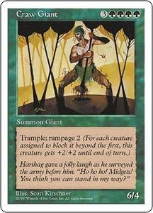 Magic the Gathering Fifth Edition Single Card Uncommon Craw Giant