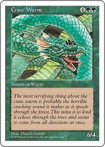 Magic the Gathering Fifth Edition Single Card Common Craw Wurm