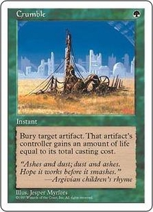 Magic the Gathering Fifth Edition Single Card Uncommon Crumble