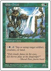 Magic the Gathering Fifth Edition Single Card Rare Elder Druid