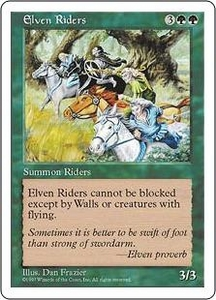 Magic the Gathering Fifth Edition Single Card Uncommon Elven Riders