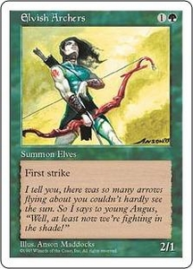 Magic the Gathering Fifth Edition Single Card Rare Elvish Archers