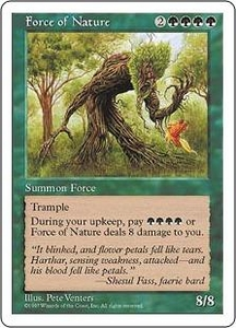 Magic the Gathering Fifth Edition Single Card Rare Force of Nature