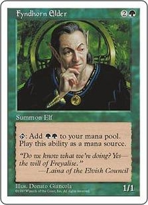 Magic the Gathering Fifth Edition Single Card Uncommon Fyndhorn Elder