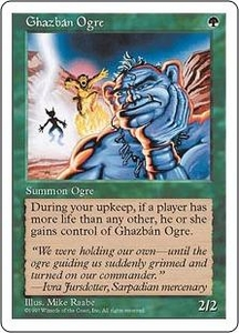 Magic the Gathering Fifth Edition Single Card Common Ghazban Ogre