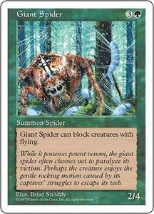 Magic the Gathering Fifth Edition Single Card Common Giant Spider