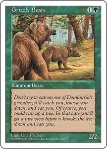 Magic the Gathering Fifth Edition Single Card Common Grizzly Bears