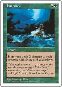 Magic the Gathering Fifth Edition Single Card Uncommon Hurricane