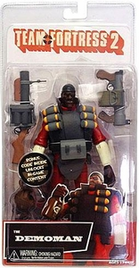 NECA Team Fortress 2 RED Series 1 Action Figure Demoman [In Game Virtual Item Redemption Code!]