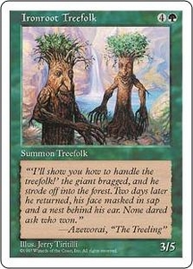 Magic the Gathering Fifth Edition Single Card Common Ironroot Treefolk