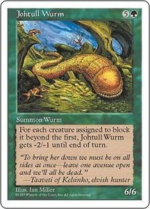 Magic the Gathering Fifth Edition Single Card Uncommon Johtull Wurm