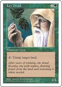 Magic the Gathering Fifth Edition Single Card Common Ley Druid