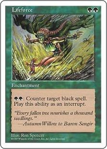 Magic the Gathering Fifth Edition Single Card Uncommon Lifeforce