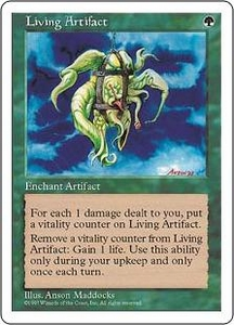 Magic the Gathering Fifth Edition Single Card Rare Living Artifact