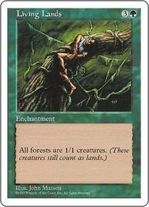 Magic the Gathering Fifth Edition Single Card Rare Living Lands