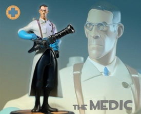 Team Fortress Gaming Heads Limited Edition 13 Inch Statue Blue Medic