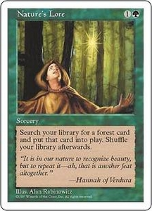 Magic the Gathering Fifth Edition Single Card Common Nature's Lore