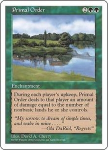 Magic the Gathering Fifth Edition Single Card Rare Primal Order