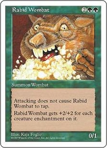 Magic the Gathering Fifth Edition Single Card Uncommon Rabid Wombat