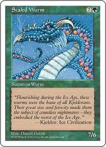 Magic the Gathering Fifth Edition Single Card Common Scaled Wurm