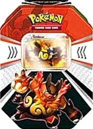 Pokemon Black & White Fall 2011 Evolved Battle Action Tin Emboar