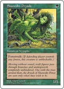 Magic the Gathering Fifth Edition Single Card Common Shanodin Dryads