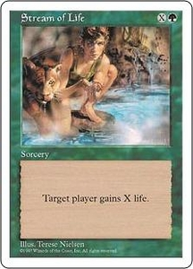 Magic the Gathering Fifth Edition Single Card Common Stream of Life