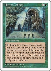 Magic the Gathering Fifth Edition Single Card Rare Sylvan Library