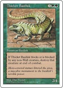 Magic the Gathering Fifth Edition Single Card Uncommon Thicket Basilisk