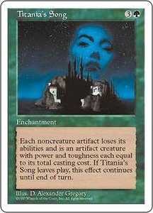 Magic the Gathering Fifth Edition Single Card Rare Titania's Song