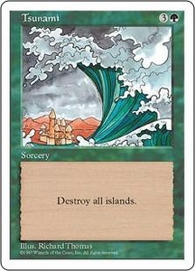Magic the Gathering Fifth Edition Single Card Uncommon Tsunami