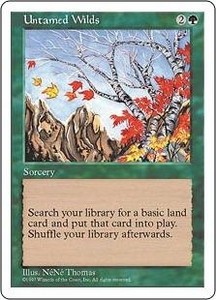 Magic the Gathering Fifth Edition Single Card Uncommon Untamed Wilds