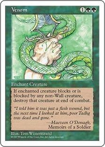 Magic the Gathering Fifth Edition Single Card Common Venom