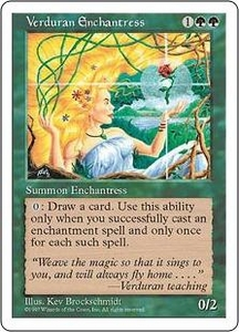 Magic the Gathering Fifth Edition Single Card Rare Verduran Enchantress