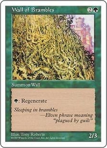 Magic the Gathering Fifth Edition Single Card Uncommon Wall of Brambles