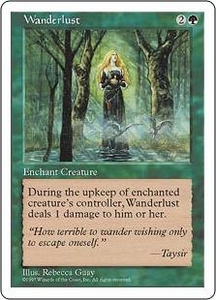 Magic the Gathering Fifth Edition Single Card Uncommon Wanderlust